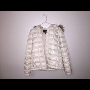 White jcrew snow jacket